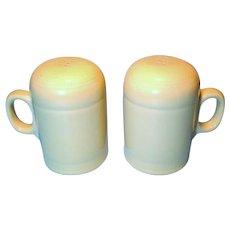 Fiesta Light Yellow Ceramic Stove Top Salt and Pepper Shakers