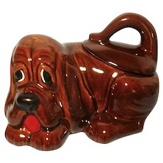 1970's Hound Dog Ceramic Cookie Jar Japan