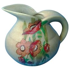 Vintage 1930's English Bisque Pottery Ewer