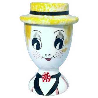 1953 Ash Collector Ceramic Figural Female