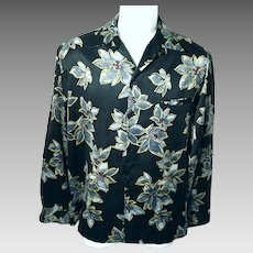 Vintage 1979 Tori Richards Mens Large Long Sleeve Button Front Shirt