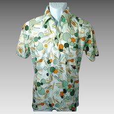 1970's Men's Medium Polyester Pullover Shirt