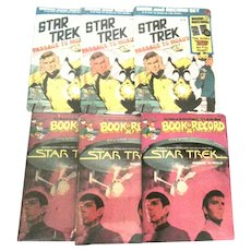 Six 1975@79 Star Trek Book and Record Sets
