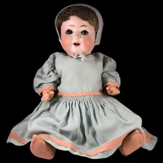 Christmas Box Bisque Head  Baby Doll