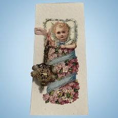 """ARTIST MADE"" Baby Rattle  for Doll"