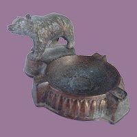 Vintage Rustic Copper Bear Ashtray