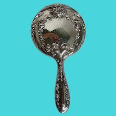 Antique Sterling Silver Hand Mirror Dated 1901