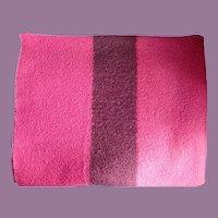 Vintage Hudson Bay Four Point Cranberry Wool Blanket