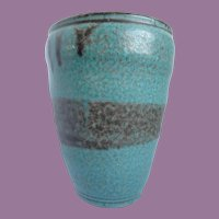 "Vintage Pottery Vase 6"" Tall Signed GV"