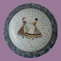 "Vintage Heide Mosaic Of Denmark 13"" Bowl/Plate Dancing Girls"