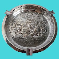 Vintage Repousse Silverplate Ashtray by E. Dragsted of Denmark