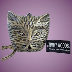 Timmy Woods Original Designs Kitty Cat Purse/Clutch Limited Editions