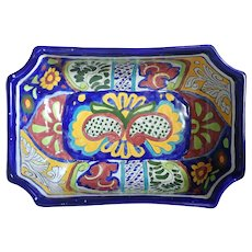 Vintage Mexican Hand Painted Signed Pot/Dish Traditional Talavera Style