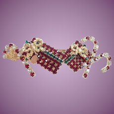 Kirks Folly Christmas Barrette/Hair Accessories Presents, Candy Canes and Rhinestones Galore!