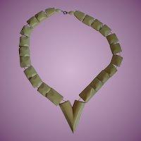 Vintage Art Deco Style Faux Ivory Necklace