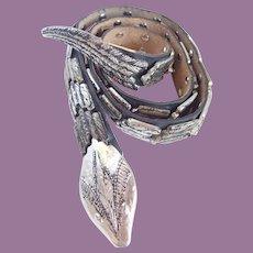 Vintage Articulated Snake Charmer Leather & Metal Belt Rock & Roll!