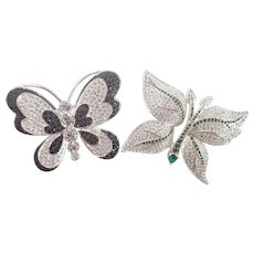 Vintage Napier Butterfly Collection Of Two Pins/Brooches