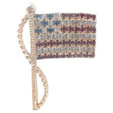 Vintage Rafaelian Patriotic American Flag Pin/Brooch