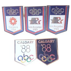 Vintage Collection Of Olympics Lapel Pins 1984-1988