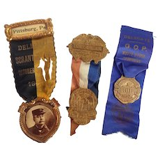 Vintage Convention Delegate Election Badges 1905 - 1952 - 1956