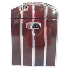 Vintage 1940's Art Deco Ronson Twentycase Combination Cigarette Case With Lighter