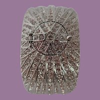 Victoria Wieck Paved Crystals Peak-A-Boo Watch Cuff Bracelet