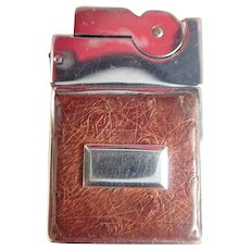 Vintage ASR Ostrich Skin Mini Lighter