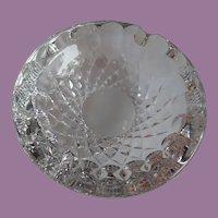 "Vintage Waterford Cut Leaded Crystal Ashtray 5"" Diamond & Thumbprint Pattern"