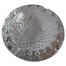 "Vintage Waterford Cut Leaded Crystal Ashtray 5"" Diamond & Thumbprint Pattern"