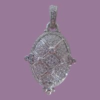 Judith Ripka Sterling Enhancer/Pendant With Pave Set CZs
