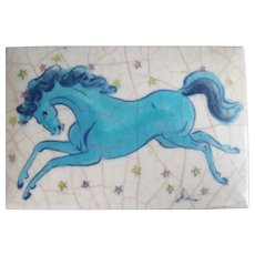 "Vintage Jean Goodwin Ames ""Night Horse"" Ceramic Box"