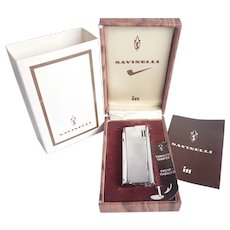 Vintage Savinelli ITT Pipe Lighter With Tamper In Original Box And Paperwork