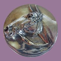 Vintage Henryk Winograd HW999 Repousee Horse Head Paperweight