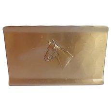 Vintage Wendell August Forge Bronze Equestrian Horse Letter File Napkin Holder