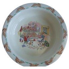 Vintage Royal Doulton Bunnykins Porridge Bowl Bedtime Story