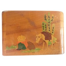 Vintage Mexican Handcarved And Painted 1950's Cigarette Case