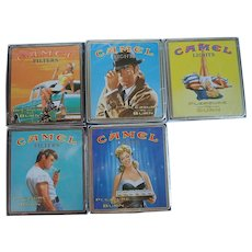 Camel 'Pleasure to Burn' Cigarette Tins; Set of 5 Factory Sealed For Collecting Only