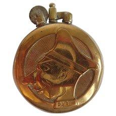Vintage WWI Trench Art Copper Plated Kaiser Wilhelm Verdun Paris Lighter