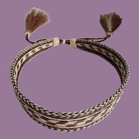 """Braided Horse Hair Hat Band Adjustable With 5"""" Tassels"""