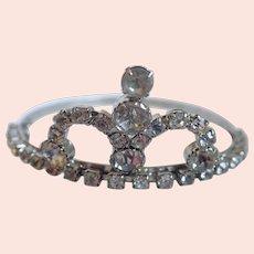 Vintage Rhinestone Tiara Crown Barrette