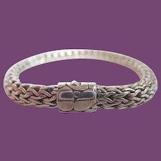 Vintage John Hardy Sterling Basket Weave Design With Dot Clasp 41 Grams