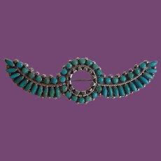 *Vintage Zuni Style Manta Cluster Shawl Pin