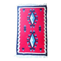"""Vintage Mexican Weaving 11 1/2"""" by 19"""" Bright Beautiful Colors"""