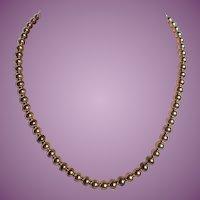 """Vintage Wells 12K Gold Filled 15 1/2"""" Beaded Necklace"""