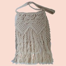 Vintage Macrame Purse Fold Over Perfect For Summer