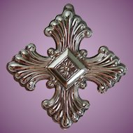 Vintage Reed & Barton's 1973 Christmas Cross Sterling Limited Edition