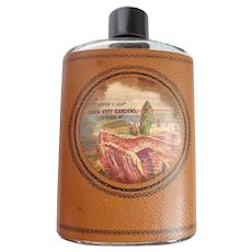 "Vintage Souvenir Rock City Gardens Lookout Mt.  ""You're Drunk"" Bottle/Flask"