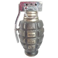Vintage Pineapple Hand Grenade Novelty Table Lighter