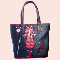 Lulu Guinness Paper Doll Rain Coat Purse