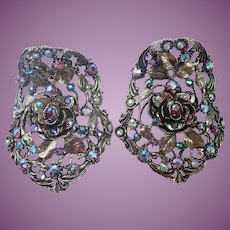 Vintage Musi Shoe Clips Large and Ornate!